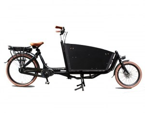 TROY EASY CARGO BAKFIETS TWEEWIELER Matt Black-brown_1